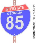 interstate highway 85 road sign ... | Shutterstock .eps vector #417716344