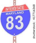 interstate highway 83 road sign ... | Shutterstock .eps vector #417716368