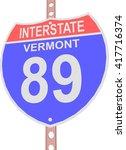 interstate highway 89 road sign ... | Shutterstock .eps vector #417716374