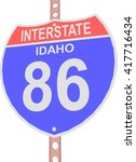 interstate highway 86 road sign ... | Shutterstock .eps vector #417716434