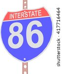 interstate highway 86 road sign ... | Shutterstock .eps vector #417716464