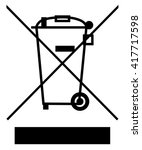the crossed out wheelie bin... | Shutterstock .eps vector #417717598