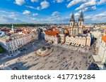 old town of prague  czech... | Shutterstock . vector #417719284