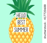 hello best summer card with... | Shutterstock .eps vector #417720688