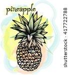 image of pineapple fruit.... | Shutterstock .eps vector #417722788