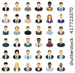 business people icons. set of... | Shutterstock .eps vector #417723370