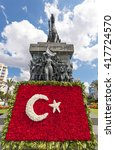 Small photo of Izmir, Turkey - May 05 2014: Republic square and Ataturk Monument in Izmir, Turkey. Izmir is the third most populous city in Turkey