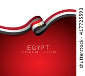 egypt flag ribbon   vector... | Shutterstock .eps vector #417725593