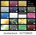 set of credit cards | Shutterstock .eps vector #417728029