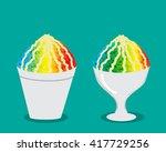 hawaiian shave ice with rainbow ...
