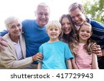 portrait of a multi generation... | Shutterstock . vector #417729943
