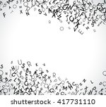 abstract black alphabet... | Shutterstock . vector #417731110