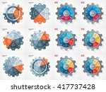vector business and industry... | Shutterstock .eps vector #417737428