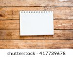 empty notebook open on the table | Shutterstock . vector #417739678
