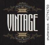 vintage typographic label... | Shutterstock .eps vector #417741703