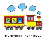 colorful train | Shutterstock .eps vector #417745120