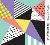 retro memphis style background  ... | Shutterstock .eps vector #417747103