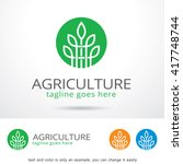nature agriculture logo... | Shutterstock .eps vector #417748744