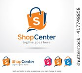 shop center logo template... | Shutterstock .eps vector #417748858