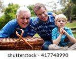 portrait of multi generation... | Shutterstock . vector #417748990