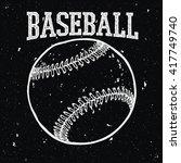 baseball retro style logo. | Shutterstock .eps vector #417749740