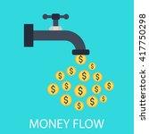 money flow | Shutterstock .eps vector #417750298
