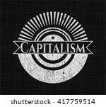 capitalism chalkboard emblem... | Shutterstock .eps vector #417759514