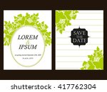 romantic invitation. wedding ... | Shutterstock . vector #417762304