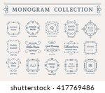 vintage monogram set. vector... | Shutterstock .eps vector #417769486