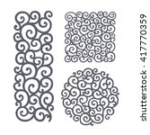 ornate vector set of round and... | Shutterstock .eps vector #417770359
