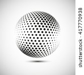 abstract  dotted halftone... | Shutterstock .eps vector #417770938