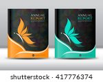 set annual report template ... | Shutterstock .eps vector #417776374