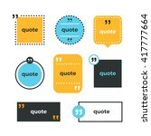 quotes set. quote copyspace... | Shutterstock .eps vector #417777664
