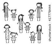 cute vector card with mother... | Shutterstock .eps vector #417778444