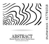 abstract vector design  hand... | Shutterstock .eps vector #417781018