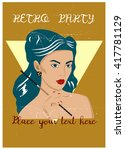 retro card poster background ...   Shutterstock .eps vector #417781129