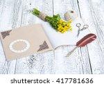 bouquet of flowers buttercups... | Shutterstock . vector #417781636