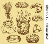 set illustration of home baking | Shutterstock .eps vector #417784006