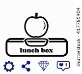lunch box with apple icon.
