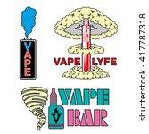 vape shop and bar logos ... | Shutterstock .eps vector #417787318