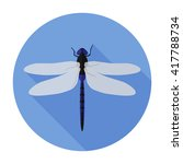Dragonfly Icon Flat. Dragonfly...