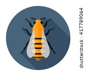 bee icon flat vector insect...   Shutterstock .eps vector #417789064