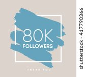 vector thanks design template... | Shutterstock .eps vector #417790366
