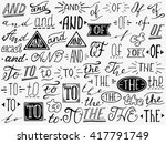 hand lettered catchwords and ... | Shutterstock .eps vector #417791749