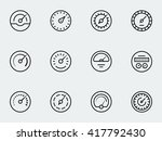 meter icon set in thin line... | Shutterstock .eps vector #417792430
