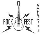 rock fest badge label. for... | Shutterstock .eps vector #417794140