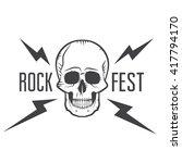 rock fest badge label. for... | Shutterstock .eps vector #417794170