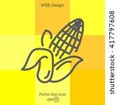 web line icon. corn | Shutterstock .eps vector #417797608
