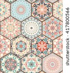 luxury oriental tile seamless... | Shutterstock .eps vector #417800566