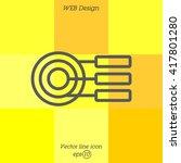 web line icon. round diagrams ... | Shutterstock .eps vector #417801280